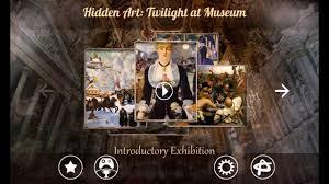 hidden art twilight in museum hidden object with world famous