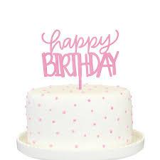 happy birthday cake topper pink happy birthday cake topper