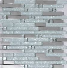 Stainless Steel Tiles For Kitchen Backsplash Silver Metallic Mosaic Tile Glass Mosaic Tile Kitchen Backsplash