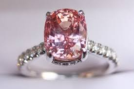padparadscha sapphire engagement ring of the week padparadscha sapphire engagement ring pricescope