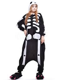 halloween fleece skeleton leggings with shirt womens bones halloween costume