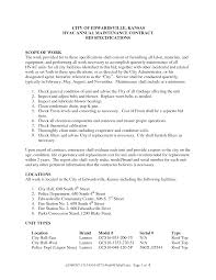 property maintenance contract template template examples