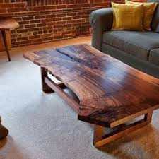 live edge walnut coffee table live edge walnut slab coffee table by quentin kelley natural wood
