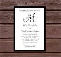monogram wedding invitations monogram wedding invitations rsvp s reception insert w