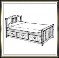 diy bed plans early american captain s bed