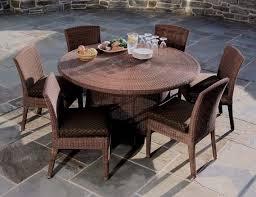 Patio Furniture Round Elegant Round Table Patio Dining Sets Terrific Waterproof Patio