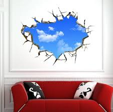amazon com blue sky 3d wall stickers for ceiling real feeling amazon com blue sky 3d wall stickers for ceiling real feeling suit for bedroom living room nursery kids room wall decoration home kitchen