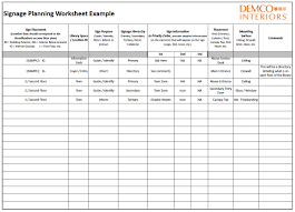 Time Management Worksheet Wayfinding Signage Planning Leads To Positive User Experiences