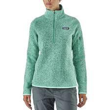 womens sweater patagonia better sweater 1 4 zip fleece jacket s
