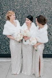 silver sequin bridesmaid dresses 33 gorgeous winter bridesmaids looks that inspire weddingomania