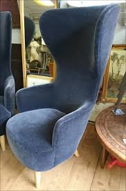 Accent Wingback Chairs Chairs Blue Velvet Wingback Chairs Chair Living Room The True