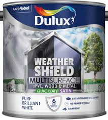 dulux weathershield multi surface quick dry satin 2 5l
