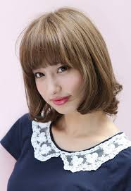 lovely short japanese bob hairstyle with bangs hairstyles weekly