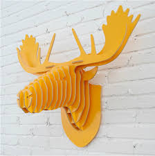 Christmas Reindeer Head Wall Decoration by Aliexpress Com Buy Reindeer Head Ornament Wall Decor Wood Wall
