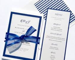 wedding invitations royal blue royal wedding invite etsy