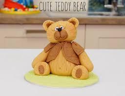 how to make a fondant icing teddy bear cake topper paul bradford