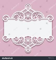 elegant cutout paper frame lace border stock vector 407351776