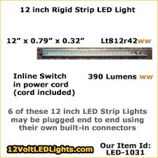 12 volt led strip lights for rv 12 inch rigid strip lt812r42 12 volt led light strip with in line