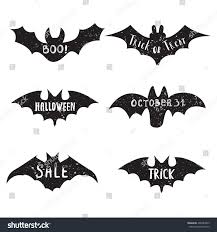 set halloween labels quotes inside on stock vector 496383829