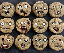 Decorated Halloween Sugar Cookies by Creepy Chocolate Chip Cookies 3 Steps With Pictures