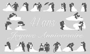41 ans de mariage carte anniversaire mariage 41 ans gris