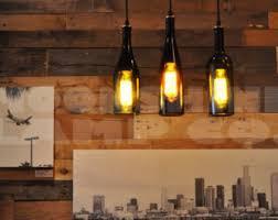 Hanging Light Bulb Pendant Recycled Whiskey Hanging Pendant Bottle Light Lamp