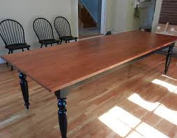 tiger maple french farmhouse dining table custom handmade in vermont