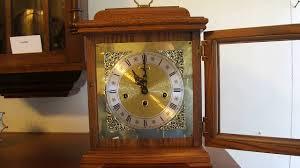 Ridgeway Grandmother Clock Ridgeway Solid Oak Bracket Mantel Clock Youtube