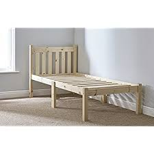single 3ft pine bed frame heavy duty complete with extra wide