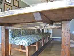 Rustic Farmhouse Dining Room Tables Rustic Dining Table Diy Video And Photos Madlonsbigbear Com