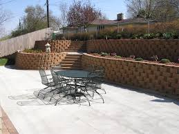 backyard retaining wall landscaping pinterest backyard