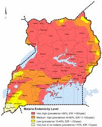 Map Of Uganda Malaria In Uganda Challenges To Control On The Long Road To