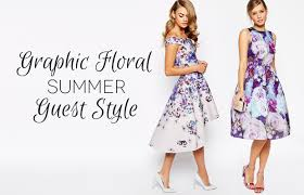 dresses for wedding guests it s all about florals for wedding guest dresses this summer 2015