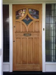 wooden front doors with glass savannah 6 lite stained mahogany