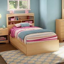 south shore shiloh kids twin bookcase storage bed set in natural