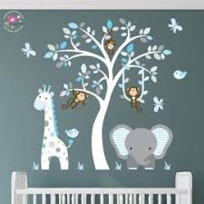 Jungle Wall Decal For Nursery Enchanted Interiors Premium Self Adhesive Fabric Nursery Wall