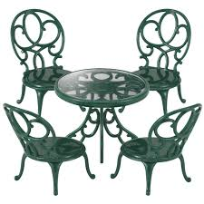 sylvanian families ornate garden table u0026 chairs set 9 00