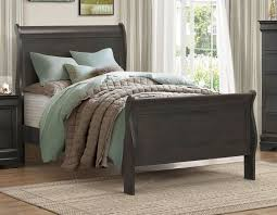 King Sleigh Bed Homelegance 2147ksg Louis Phillippe Style Grey Wood King Sleigh Bed
