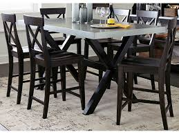 liberty furniture keaton ii 7 piece gathering table set with x