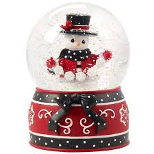 baptism snow globes precious moments white christmas snowman musical snow globe 8th