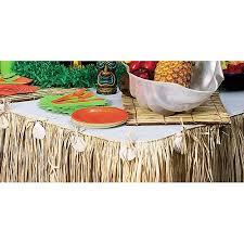 Table Skirts Raffia And Seashell Table Skirt Walmart Com
