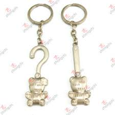 china promotional gift custom metal pendant keychain for