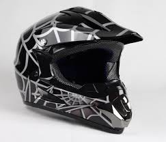 flat black motocross helmet off road youth helmet black spider w121 sbk bmi karts and
