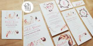 wedding stationery feather wedding stationery oh yay