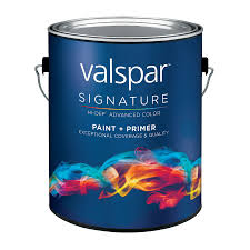 shop valspar signature white matte latex interior paint and primer