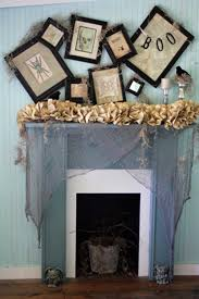 Ideas Halloween Decorations 35 Fall Mantel Decorating Ideas Halloween Mantel Decorations