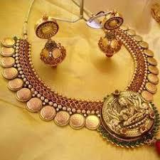 Buy Kasu Mala Lakshmi Ji Temple Jewellery Temple Jewellery Pinterest Temple