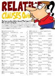 english exercises test relative pronouns