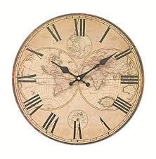 bureau lmde pendule horloge murale mappe monde neuve deco bureau bois vintage