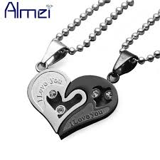 couple necklace chains images Almei gothic chocker statement necklace mens stainless steel free jpg
